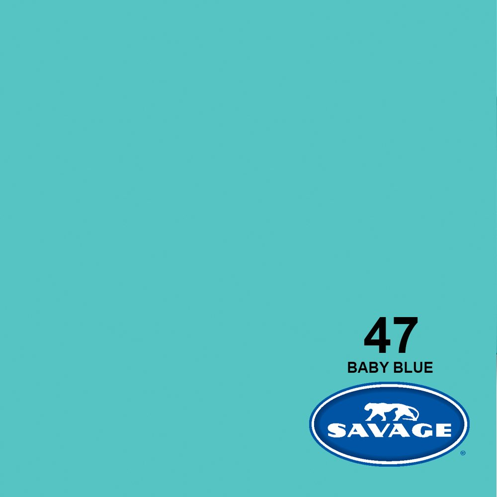 Savage Seamless Background Paper - #47 Baby Blue (107 in x 36 ft) by Savage (Image #2)
