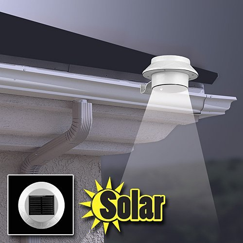 Solar Powered Wireless Motion Sensor Outdoor LED Wall Lights for Garden Patio Fencing Path Lighting (White)