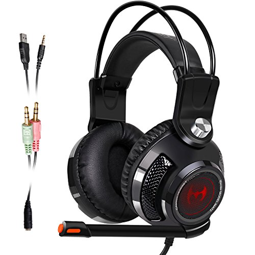 USB Stereo Gaming Headset Mixcder MAT2 Computer Over Ear Wir