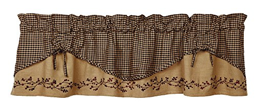Berry Vine Valance, Scalloped, 60