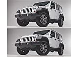 Undercover NH1001-PW7 Painted - Bright White Large NightHawk Jeep Brow