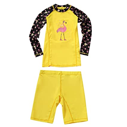 6cbd5fd01002e Image Unavailable. Image not available for. Color: IvyH Girls Swimsuit  Swimwear - Kids Two-Piece Swimwear Long Sleeves Wetsuit Surfing Diving Suits