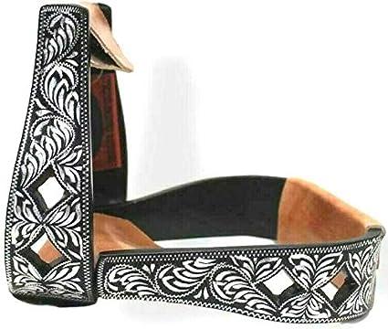 Brand Black Aluminum Engraved Pleasure Stirrups Horse Tack D.A