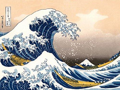 Katsushika Hokusai - La Grande Onda Di Kanagawa, 2 Parti Poster Carta Da Parati Fotomurale (240 x 180cm) 1art1®