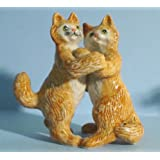 KLIMA Ginger CAT Tabby DANCERS on Hind Legs MINIATURE Porcelain #3 New FIGURINE K629C