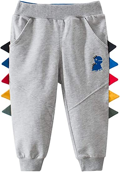 PAUBOLI Pantalones de algodón para bebé, Suaves y de Dinosaurio para niños de 1 a 5 años: Amazon.es: Ropa y accesorios