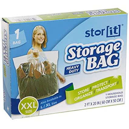 Stor It - XX-Large Heavy Duty Plastic Storage Bags with Handles.  sc 1 st  Amazon.com & Amazon.com: Stor It - XX-Large Heavy Duty Plastic Storage Bags with ...
