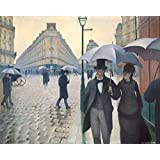 Posters: Gustave Caillebotte Poster Art Print - Paris Street, Rainy Day, 1877 (20 x 16 inches)