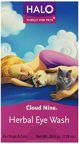 Halo Cloud Nine Natural Herbal Eye Wash for Dogs and Cats, 0.25oz