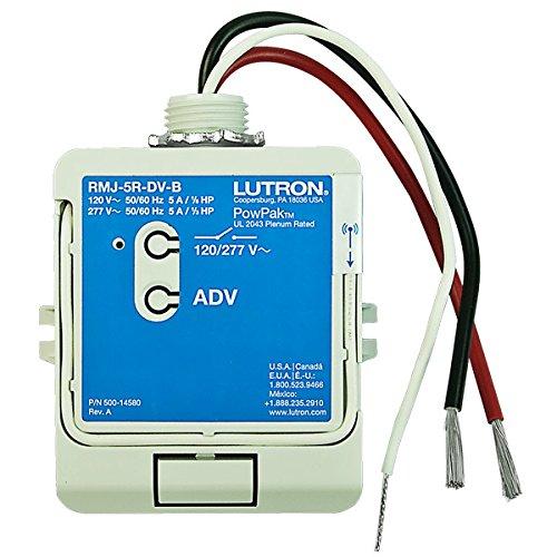 Wireless Relay (Lutron PowPak RMJ-5R-DV-B - 5A Wireless Relay Module - With Softswitch - 120-27)