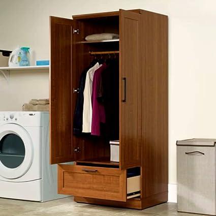 amazon com baby armoire wardrobe closet tall narrow corner storage