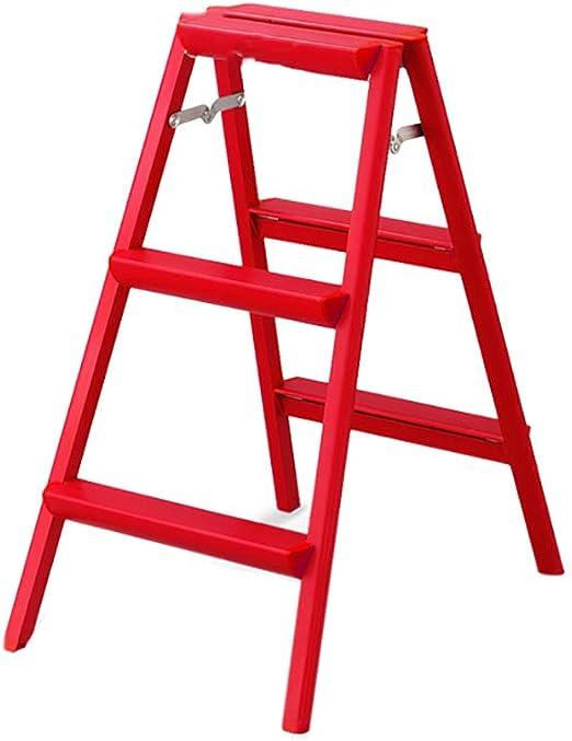 LFY Escalera Escalera de Tijera - Escalera de Tijera Plegable de 3 escaleras for el hogar, Taburete portátil liviano de Aluminio Grueso Taburete (Color : Rojo): Amazon.es: Hogar