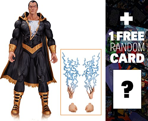 "Black Adam (Forever Evil): ~6"" DC Collectibles DC Comics Icons Action Figures + 1 FREE Official DC Trading Card Bundle (333472)"