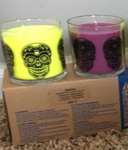 Halloween Skeleton Fun Mini Jar Candle Pair Decoration by PartyLite ()
