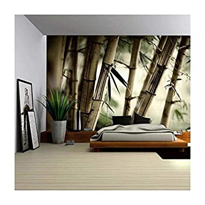 Quality Artwork Charming Object of Art Close Up Views of a Bamboo Forest Wall Mural