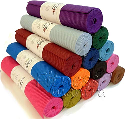 Fitness Mantra High Density Yoga Mat for Yoga Exercise and Gym Workout. 6mm Yoga Mat for Men & Women Fitness [Multicolor][1 Pcs.][6mm] Price & Reviews