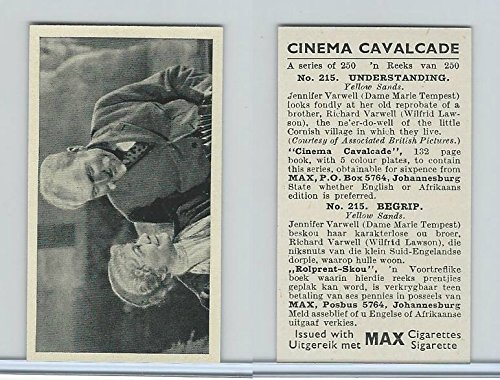 W70-1 A&M Wix, Cinema Cavalcade (Inadequate), 1940, #215 Tempest, Wilfrid Lawson