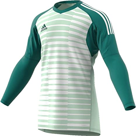 2606cd076 Boys adidas ADIPRO 18 GoalKeeper Jersey Junior tech forest aero green off  white For