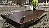 Black Walnut Large, Gorgeous, Full-of-Character, Forest-to-Table Solid Double Live Edge Wood Charcuterie/Appetizer/Dessert/Grazing/Serving Board. 100% USA Handcrafted. 27 x 13.5 x 1.25''