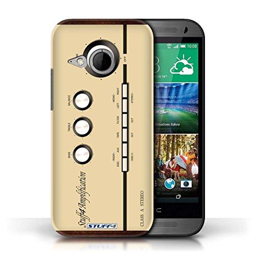 Kobalt® Imprimé Etui / Coque pour HTC One/1 Mini 2 / Amp/Amplificateur conception / Série Retro Tech
