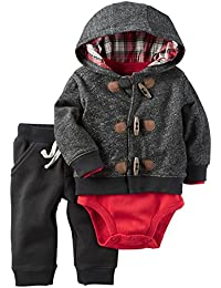 Carter's Baby Boys 3-Piece Toggle Hoodie Set