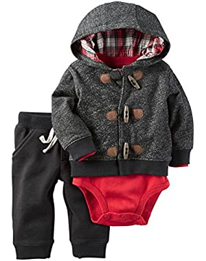 Carter's Baby Boys 3 Pc Sets, Heather, NB