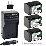 [Fully Decoded] Kastar BN-VG121 Battery (3-Pack) and Charger Kit for JVC Everio GZ-E Series, GZ-EX Series, GZ-HD Series, GZ-HM3 Series and GZ-MG750, GZ-MS110, GZ-MS230, GZ-MS250, GZ-G3, GZ-GX1, GZ-GX8