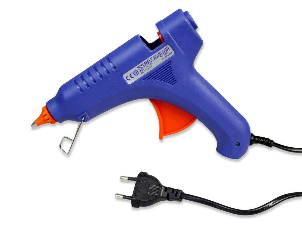 Vetrineinrete/® Pistola per colla a caldo 60 watt incollatrice termocollante con grilletto per bricolage riparazioni fai da te 57212 P29