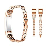 For Fitbit Alta HR and Alta Bands With Rhinestone Bling, KOBWA Adjustable Metal Bands Wristbands/Jewelry Bangle/Bracelet/Replacement Bands/Accessories