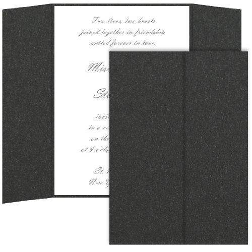 Gatefold Invitation Enclosure - 5 x 7, Metallic Onyx, 25 Pack
