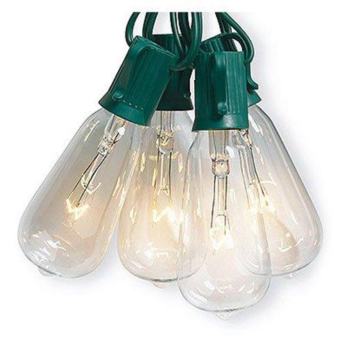 Sylvania V51587 10 Light, Clear, Elongated ST40 Edison Bulb Style Light Set by Noma/Inliten