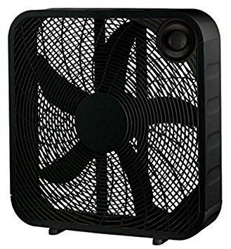 """WP 20"""" BLK Box Fan"""