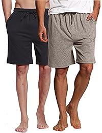 Sleep Bottoms Mans Fashion New High Quality 100% Cotton Sleep Shorts Men Casual Loose Pants Summer Leisur Cotton Stripes Home Underwear Underwear & Sleepwears