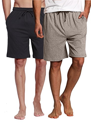 Shorts Bottoms Shorts (CYZ Collection CYZMen'sSleepShorts-BlackGreyMelange2PK-L)
