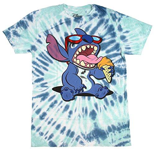 Disney Lilo & Stitch Men's Ice Cream Tie Dye T-Shirt (X-Small)
