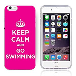"""FUNNY DIY KEEP CALM AND GO SWIMMING Pattern HD Durable Hard Plastic Case Cover for Apple iphone 6(4.7"""")"""