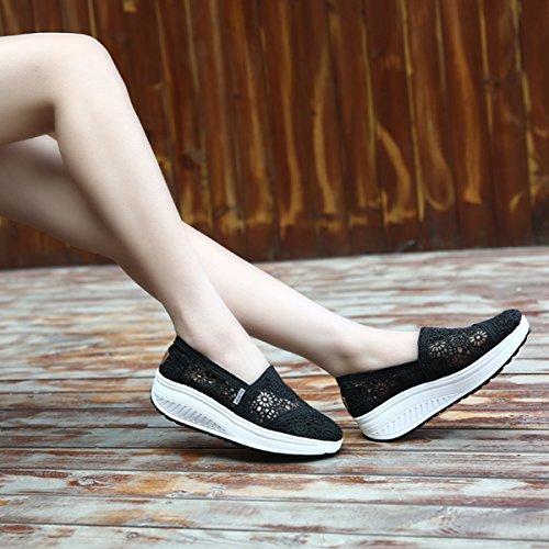 Donna Sportive Zeppa Da Summer Sneaker Fitness Dimagranti Schwarz01 Basculanti Scarpe Mesh Platform Ginnastica IxvqIPr