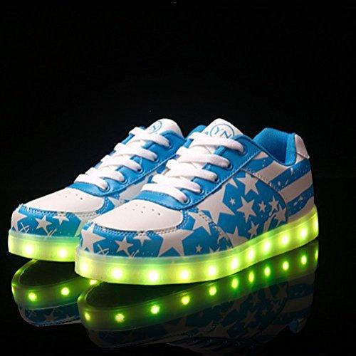 [Present:kleines Handtuch]JUNGLEST® Led schuhe Blau Unisex Leuchtschuhe Sneaker Turnschuhe Abschlus Blau