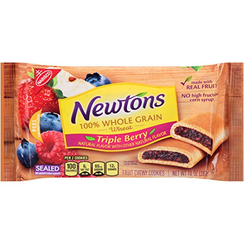 Fruit Whole Grains - Newtons Triple Berry 100% Whole Grain Fruit Chewy Cookies, 10 Ounce