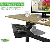 Uncaged Ergonomics Ergonomic Under Desk Keyboard Tray with Mouse Pad