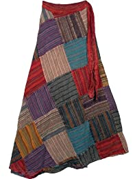 "TLB Groove Fall Wrap Around Skirt - L: 38""; W: 22""-36"" (Free Size)"