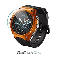 Casio WSD-F10 Screen Protector, BoxWave® [ClearTouch Glass] 9H Tempered Glass Screen Protection for Casio WSD-F10