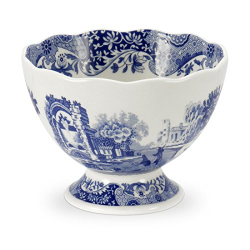 - Spode 1538474 Blue Italian Footed Bowl,