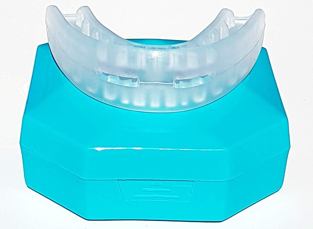 OzDenta Patentiertes Mundschutz Zahnschutz Beißschiene Zahnschiene Für Boxen, MMA, Rugby, Kickboxen, Judo, Karate, Hockey & Kampfsport. Sportmundschutz mit Praktischer Aufbewahrungsbox. Schützt Zähne, Zahnfleisch & Kiefer.