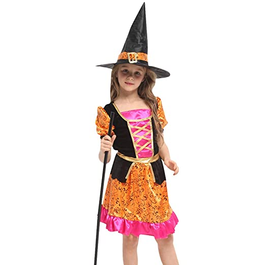 Disfraz de bruja - Disfraz de niña de Halloween ,Falda princesa + ...