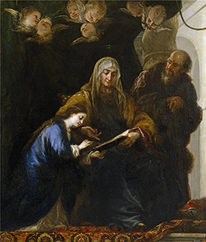 [Oil Painting 'Carreno De Miranda Juan Santa Ana Ensenando A Leer A La Virgen Ca. 1676 ' Printing On High Quality Polyster Canvas , 16 X 19 Inch / 41 X 48 Cm ,the Best Hallway Decor And Home Gallery Art And Gifts Is This Best Price Art Decorative Prints On] (Half Doll Half Zombie Costume)