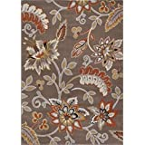 Machine-Made Bronx Taupe Salmon Polypropylene Rug (7 10 x 10 5)