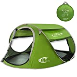 G4Free® Large Pop Up Backpacking Camping Hiking Tent Automatic Instant Setup Easy Fold back Shelter Travelling Beach Shelter with ANTI-UV Coating for 2-3 person(Green)