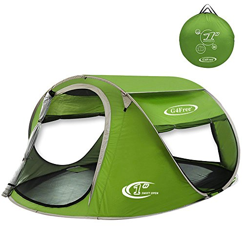 G4Free Pop Up Tent Beach Cabana Instant Backpacking Sun Shelter Water Resistant C&ing Cabin Tent Automatic Setup Beach Tents Anti-UV Ventilation for 2-3 ...  sc 1 st  Amazon.com & Large Pop Up Tent: Amazon.com