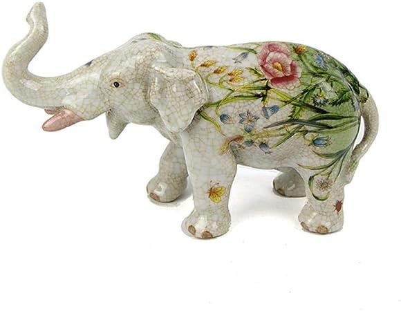 QIBAJIU Esculturas Y Estatuas De Jardín Regalo Estatua Escultura Decorativa Elefante De Cerámica Artesanía Regalo Salón Decoración del Hogar: Amazon.es: Hogar